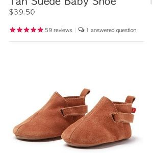 Zutano tan suede baby shoes 18 months